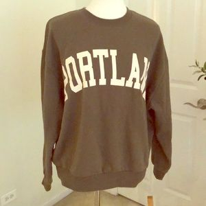 Cutest Portland OR Army Green Crewneck Sweatshirt